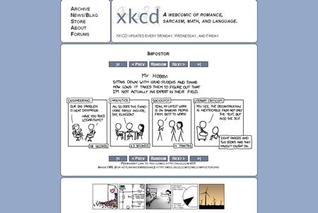 XKCD - A webcomic of romance,